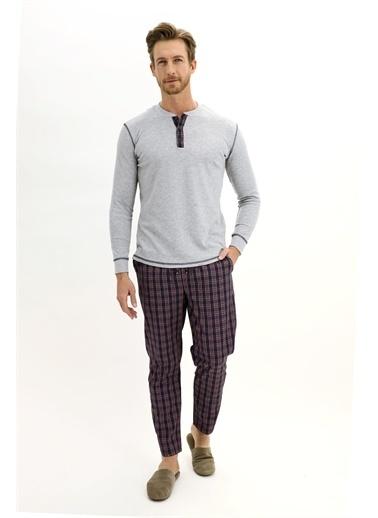 Kiğılı Pijama Takım Lacivert